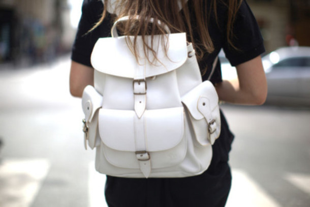 bag backpack white purse bookbag sliver school purse school bag girl rucksack bag school backpack