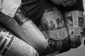 pants,leggings,newspaper,writing,printed leggings