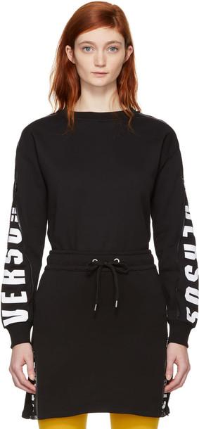 Versus sweatshirt mesh black black mesh sweater