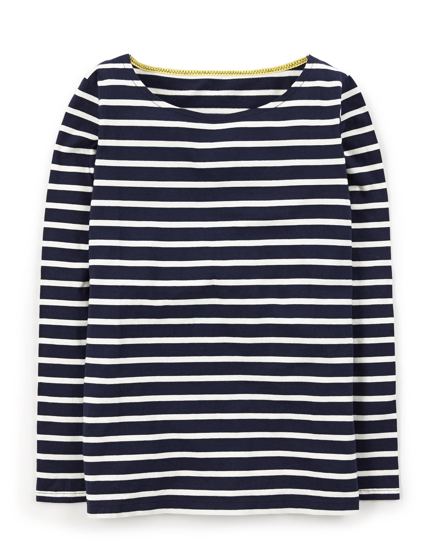 Long Sleeve Breton (Ivory/Navy)