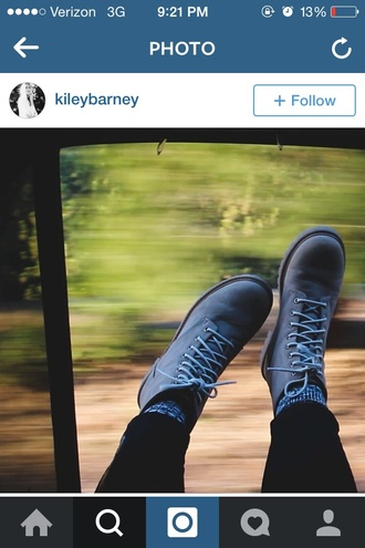 shoes they are grey boots. kinda look like hiking boots  but not