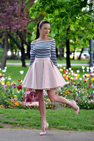 my silk fairytale blogger blouse skirt bag shoes