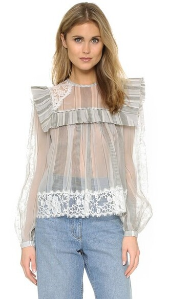 blouse lace top