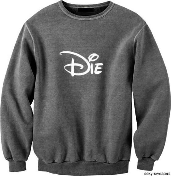 sweater disney die gray