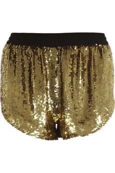 sequin disco shorts