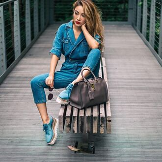 jumpsuit platform shoes tumblr denim jumpsuit blue jumpsuit shorts blue shoes bag grey bag shoes