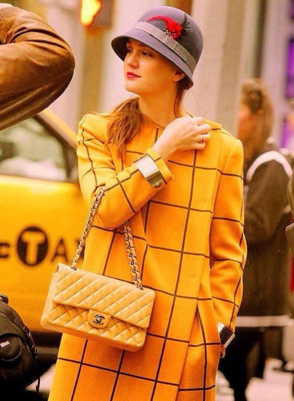 gossip girl blair waldorf blair coat yellow trench coat