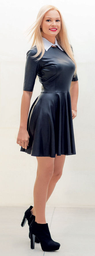 dress black dress vinyl