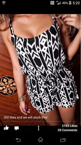 dress aztec playsuit