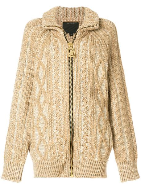 Marc Jacobs cardigan cardigan zip women spandex nude silk wool sweater
