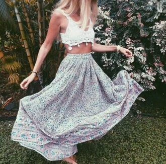 skirt maxi skirt floral floral dress floral skirt flower skirt