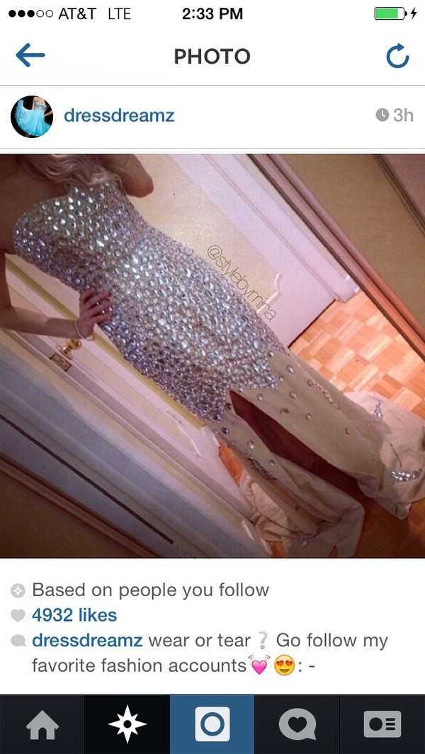prom dress prom dress style instagram fashion dress tank top rhinestones homecoming dress