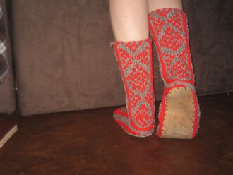 shoes knit boot slippers