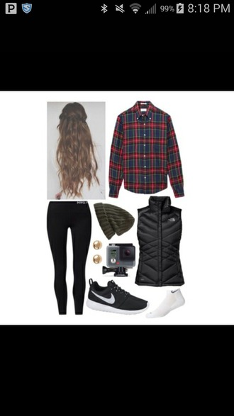 jacket plaid flannel vest pants