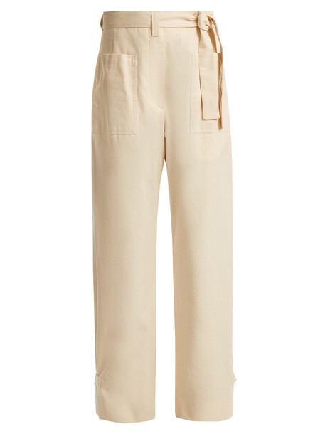 Jil Sander cotton beige pants