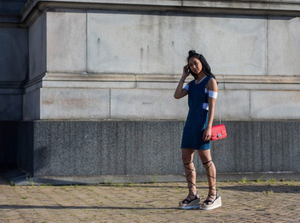 little mai sunshine blogger dress top shoes bag