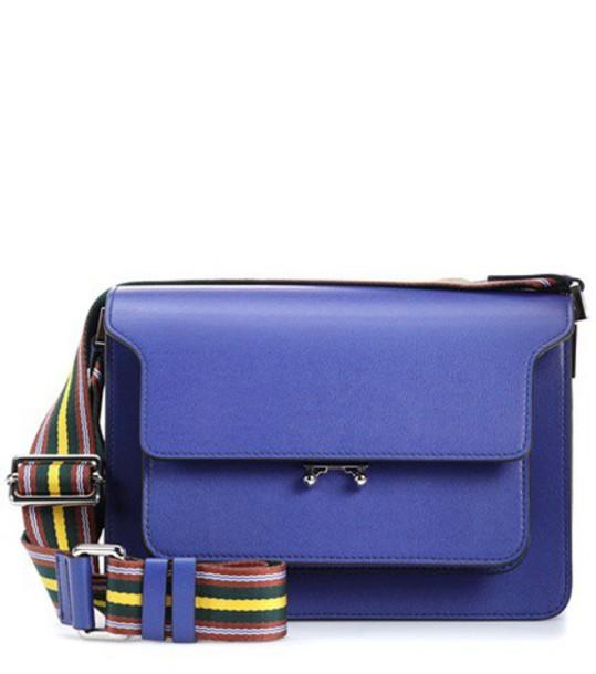 MARNI bag shoulder bag leather blue