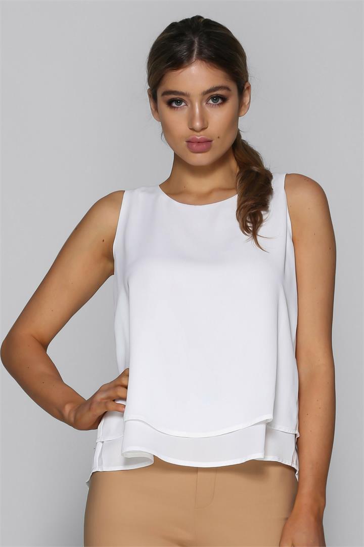 Bad AF Fashion Aspen Top in White