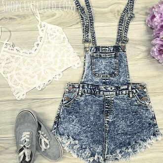 tank top crop tops crop tank lace lace crop top lace tank top white lace short overalls denim denim overalls romper