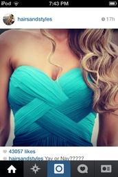 dress,blue,criss cross,woven top