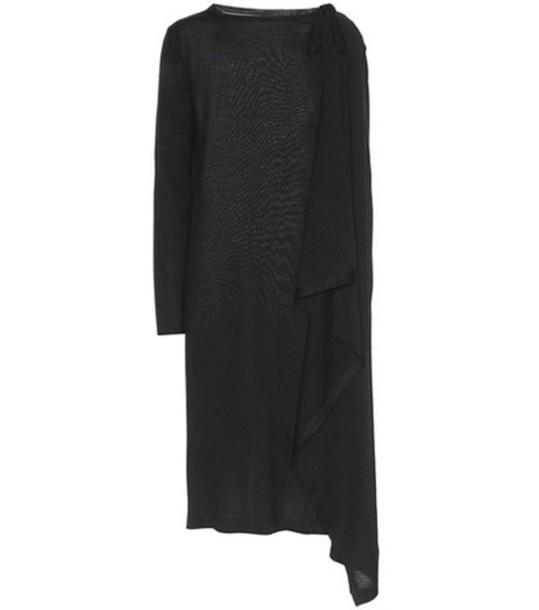 MAISON MARGIELA dress draped wool black