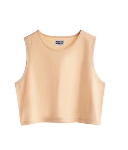 shirt cream shirt middrift singlet vintage