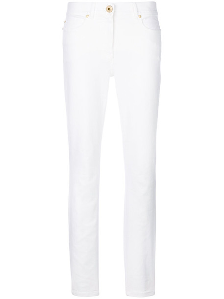 VERSACE jeans women spandex fit white cotton
