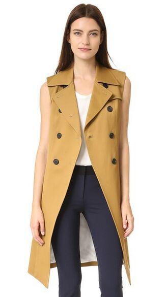 vest beige jacket