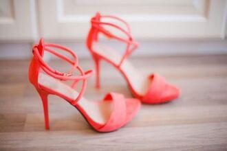 Coral Pink High Heels - Shop for Coral Pink High Heels on Wheretoget