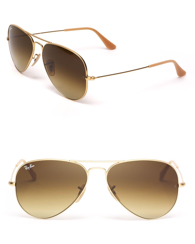 Ray-Ban Matte Aviator Sunglasses | Bloomingdale's