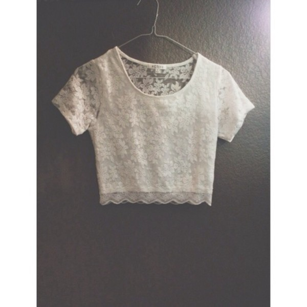 tank top white crop tops t-shirt