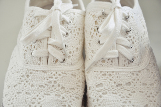 shoes lace white lace shoes white shoes crochet shoes crochet cutes sneakers toms