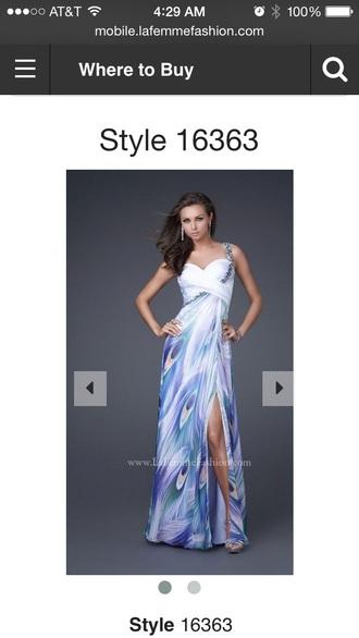 dress la femme printed prom dress