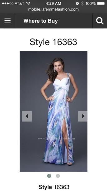 dress la femme print prom dress