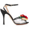 Charlotte olympia - floral sandals - women - leather/plastic/pvc/canvas - 37, black, leather/plastic/pvc/canvas