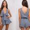 Bow front playsuit