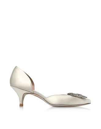 heel pumps satin shoes