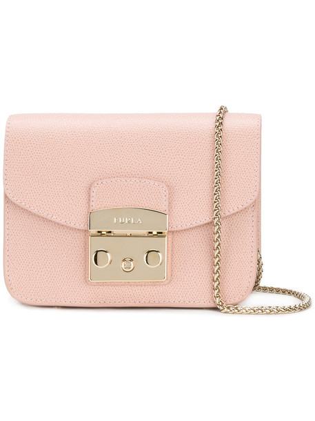 Furla women bag leather purple pink