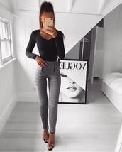 jeans,grey,stripes