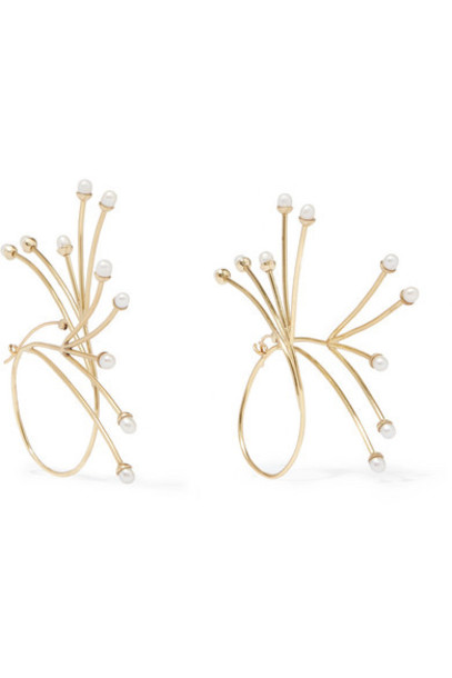 Ellery - Rarig Gold-plated Pearl Earrings