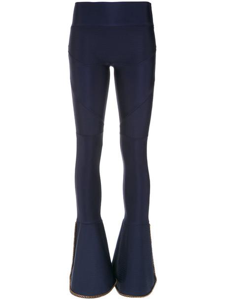 women spandex embellished blue pants