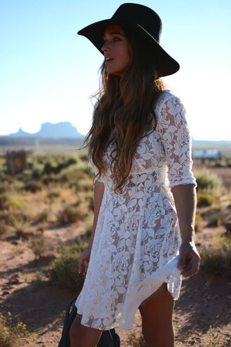 stella wants to die blogger white lace white lace dress white dress fall dress fedora