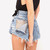 Jett Vintage Frayed Studded Shorts | RUNWAYDREAMZ