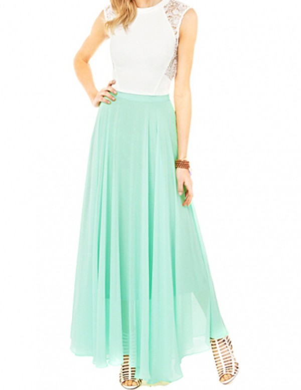 nextshe fashion solid casual maxi chiffon