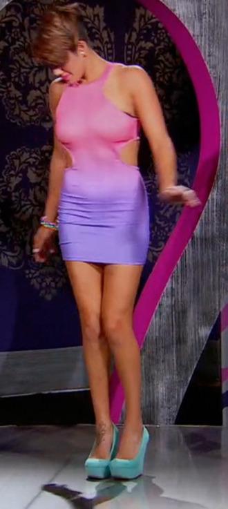 dress pink purple purple dress pink dress high heels heels shoes rocky balboa rocky bgc10 bgc bad girls club bad girls all star battle bgasb2 bgasb