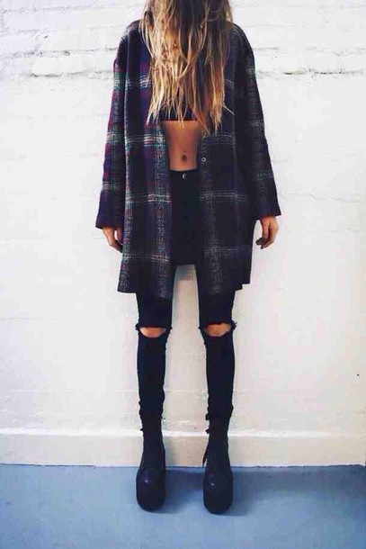 Cute Outfits With Plaid Shirts Tumblr Shirt Cute Cool Tumblr