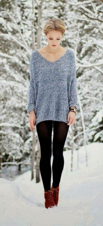 sweater v neck gray long full sleeves comfy deep vneck oversized snow