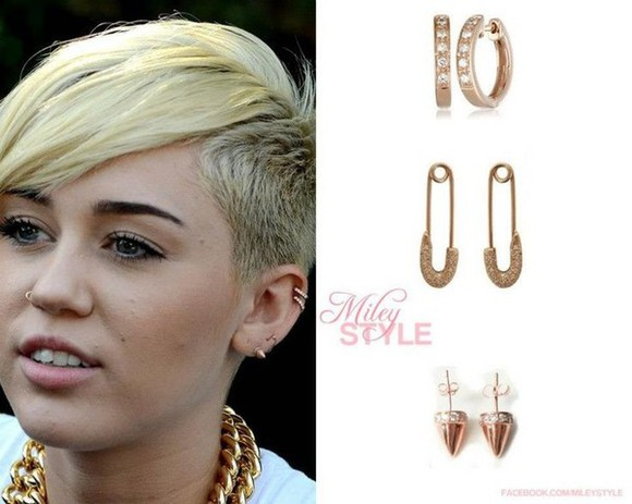 miley cyrus jewels earrings