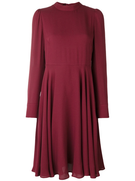 Valentino dress women spandex silk red