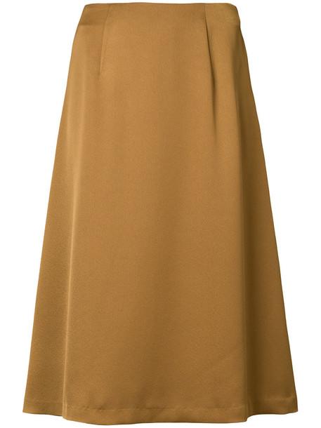 skirt women midi brown